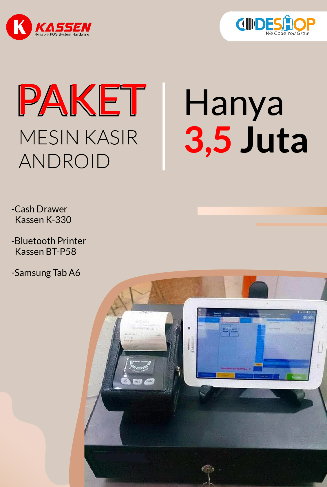 Codesoft TCP I500 (POS All In One)